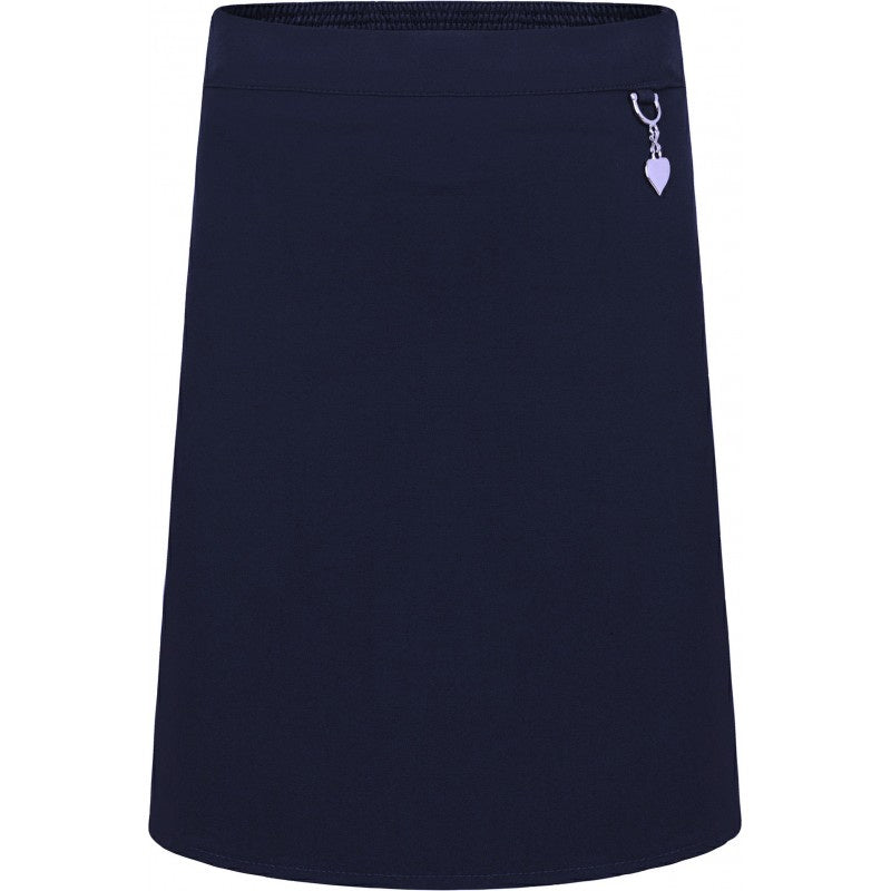 Navy Skirt with Heart Clasp