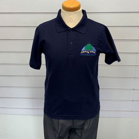 Overstone School Boys Navy Polo
