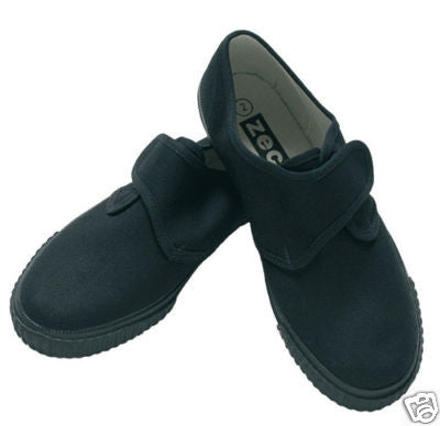 Black Velcro Plimsoles - Wear2School