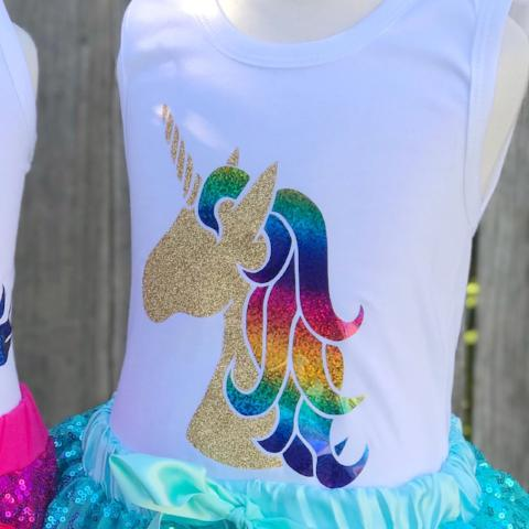 Unicorn w/Rainbow Foil Hair Item#119