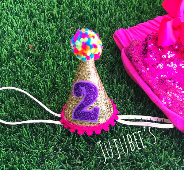 Mini Birthday Party Hat for Birthday Celebrations or Photo Shoot