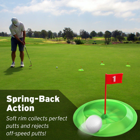 GoSports Pure Putt Challenge Putting Cups 3 Pack | Practice Putting Indoors & Outdoors