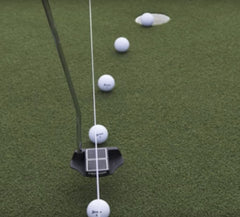 Dave Pelz Elevated Aim Line - Putting Guide