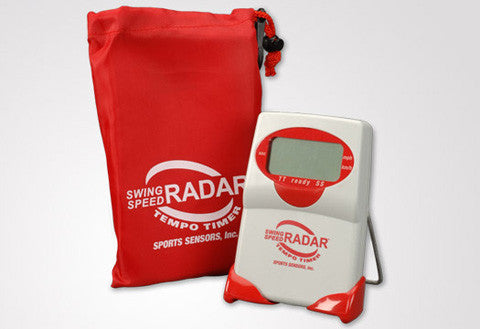 SwingSpeed RADAR - RED - with speed and tempo