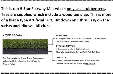 5 Star Zoysia Fairway Deluxe (Commercial Driving Mat)