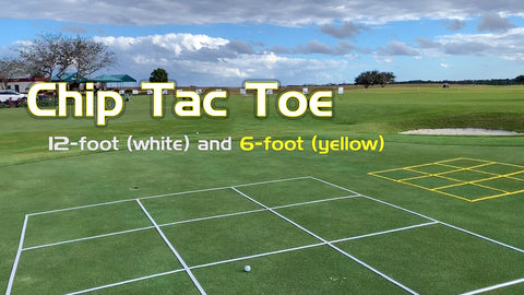 Chip Tac Toe, 6-foot and 12-foot target grids