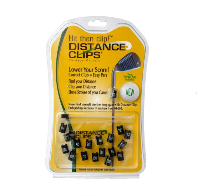 Distance Clips - Golf Yardage Marker Clips