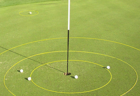 eGolfRing - yellow or white chipping targets