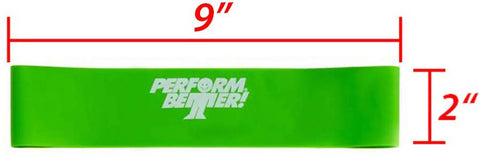 "Perform Better or Synergee resistance band (9"" x 2"" medium or heavy)"