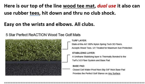 5 Star Perfect ReACTION Wood Tee Golf Mats