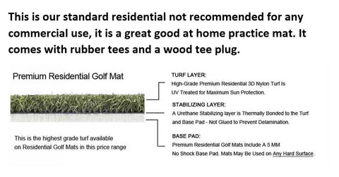 5 Star Premium Residential Golf Mats (Light Duty Mat)