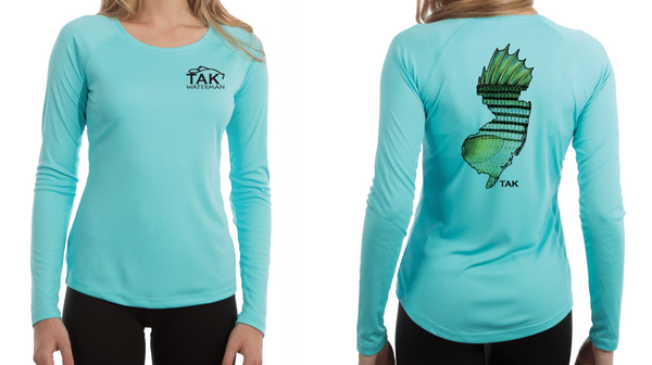 Womens Solar Performance Nj Striper Long Sleeve