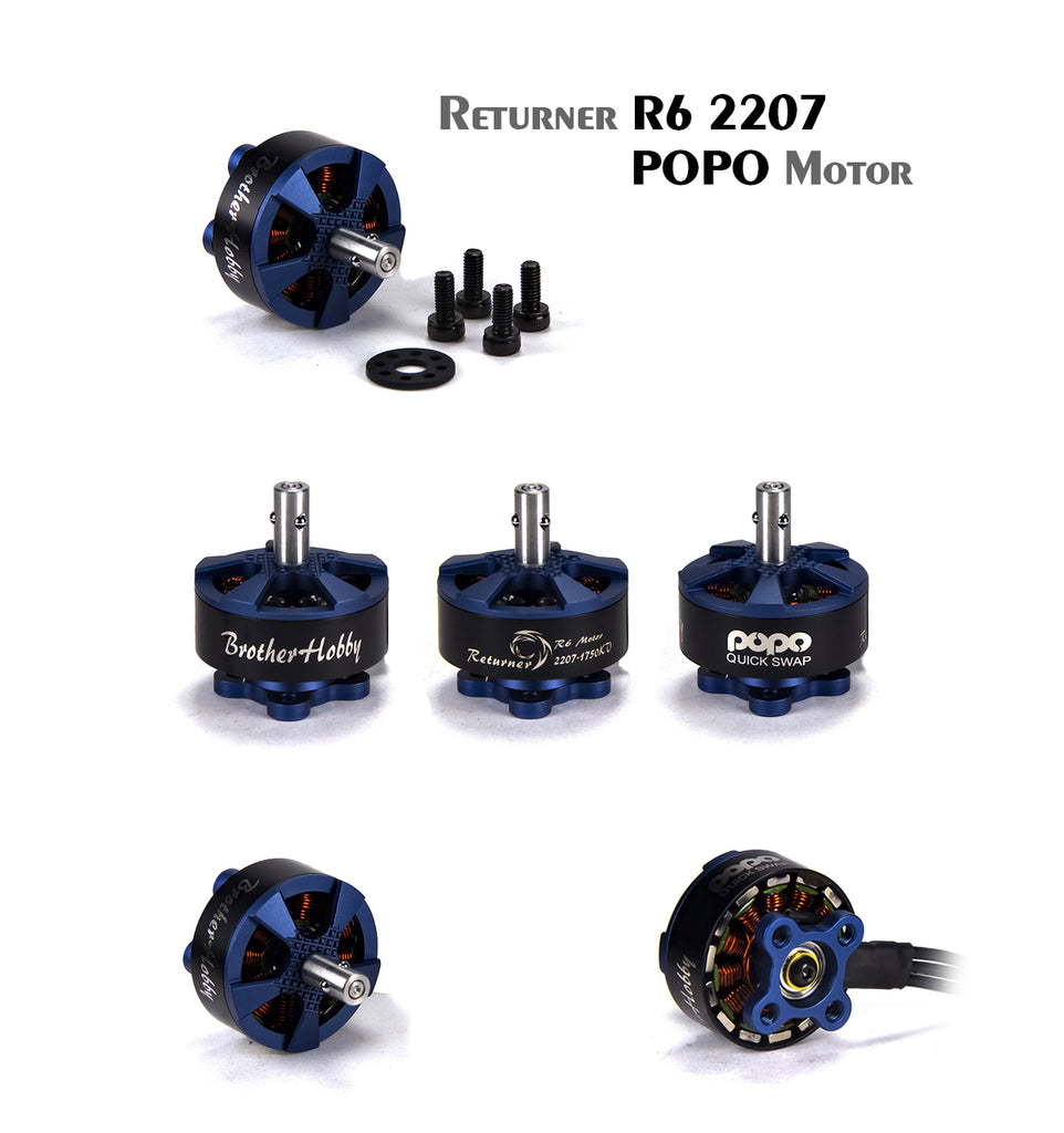 BROTHERHOBBY RETURNER R6 POPO 2207 2550KV RACING MOTOR for Sale