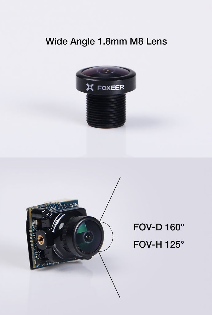 Foxeer CL1207 M8 1.8mm Replacement FPV Camera Lens