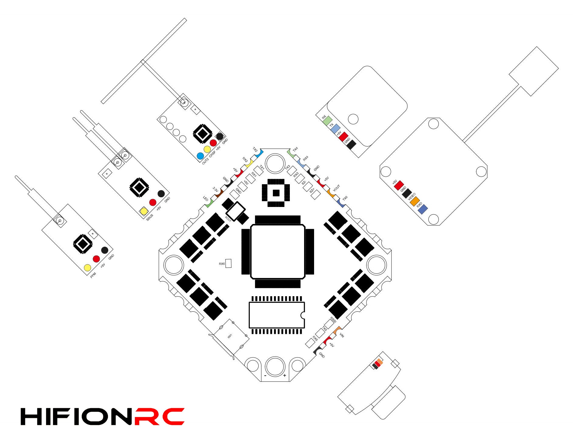 HIFIONRC F7 2-6S AIO Whoop Flight Controller for Sale