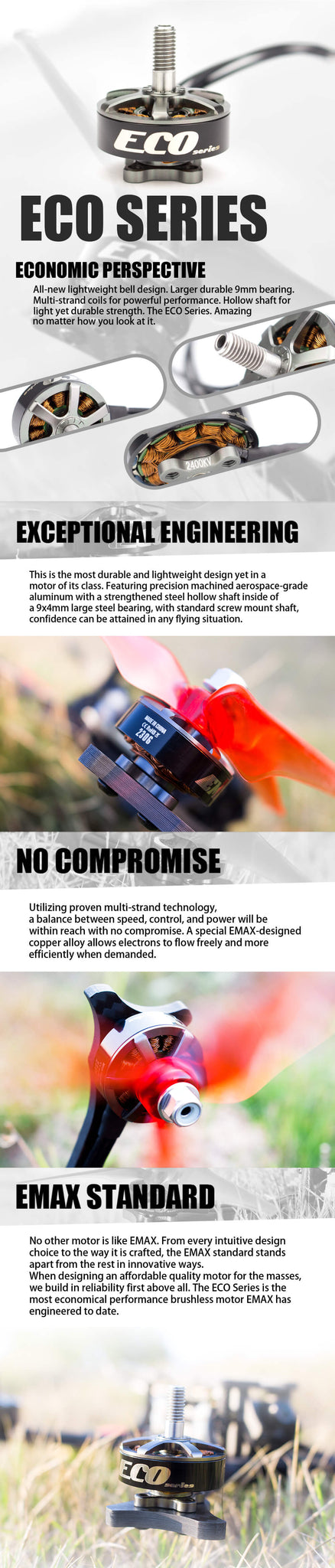 EMAX ECO Series 2306 1700kv FPV Motor for Sale