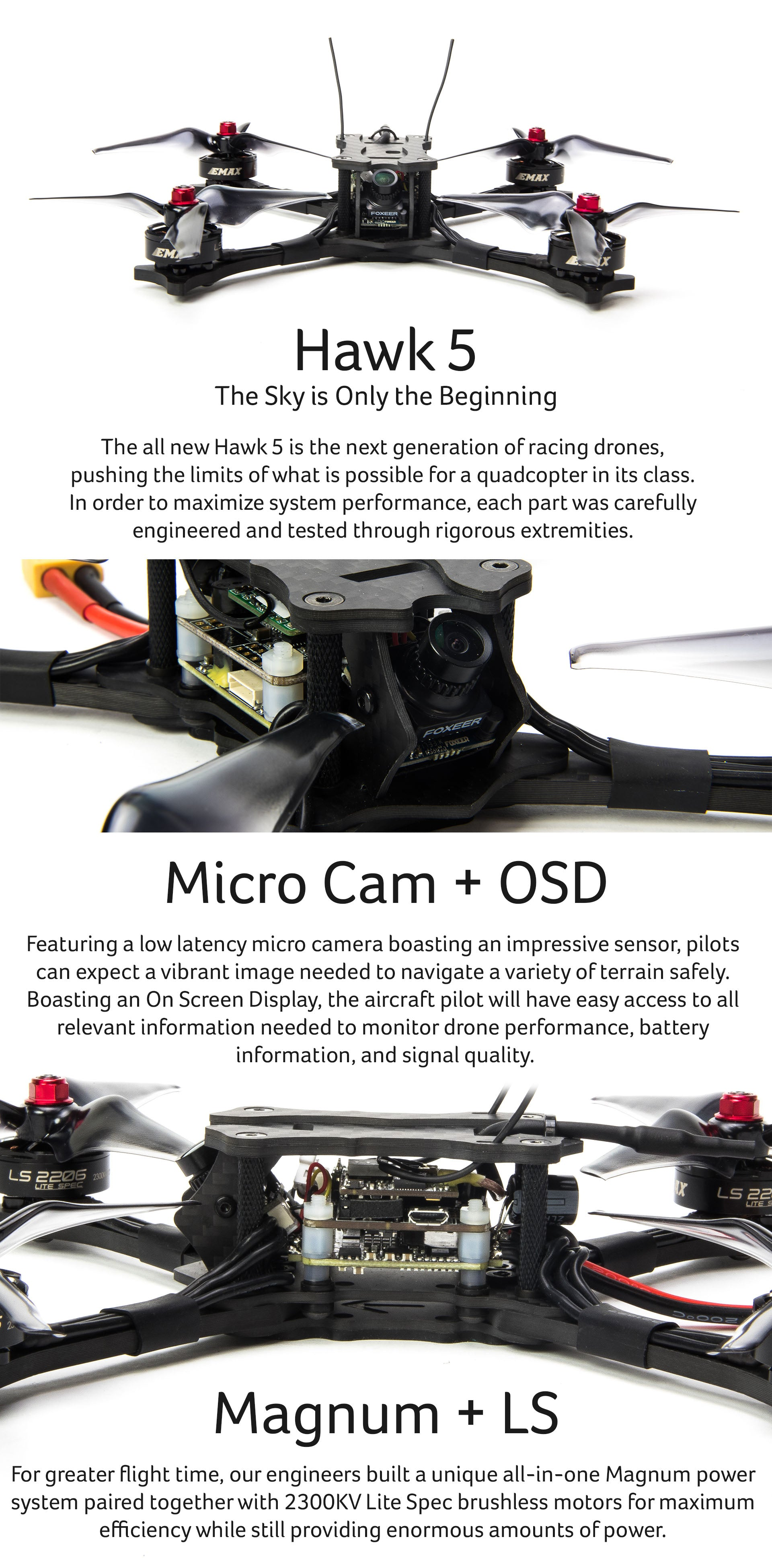 Hawk 5 BNF FPV Racing Drone for Sale