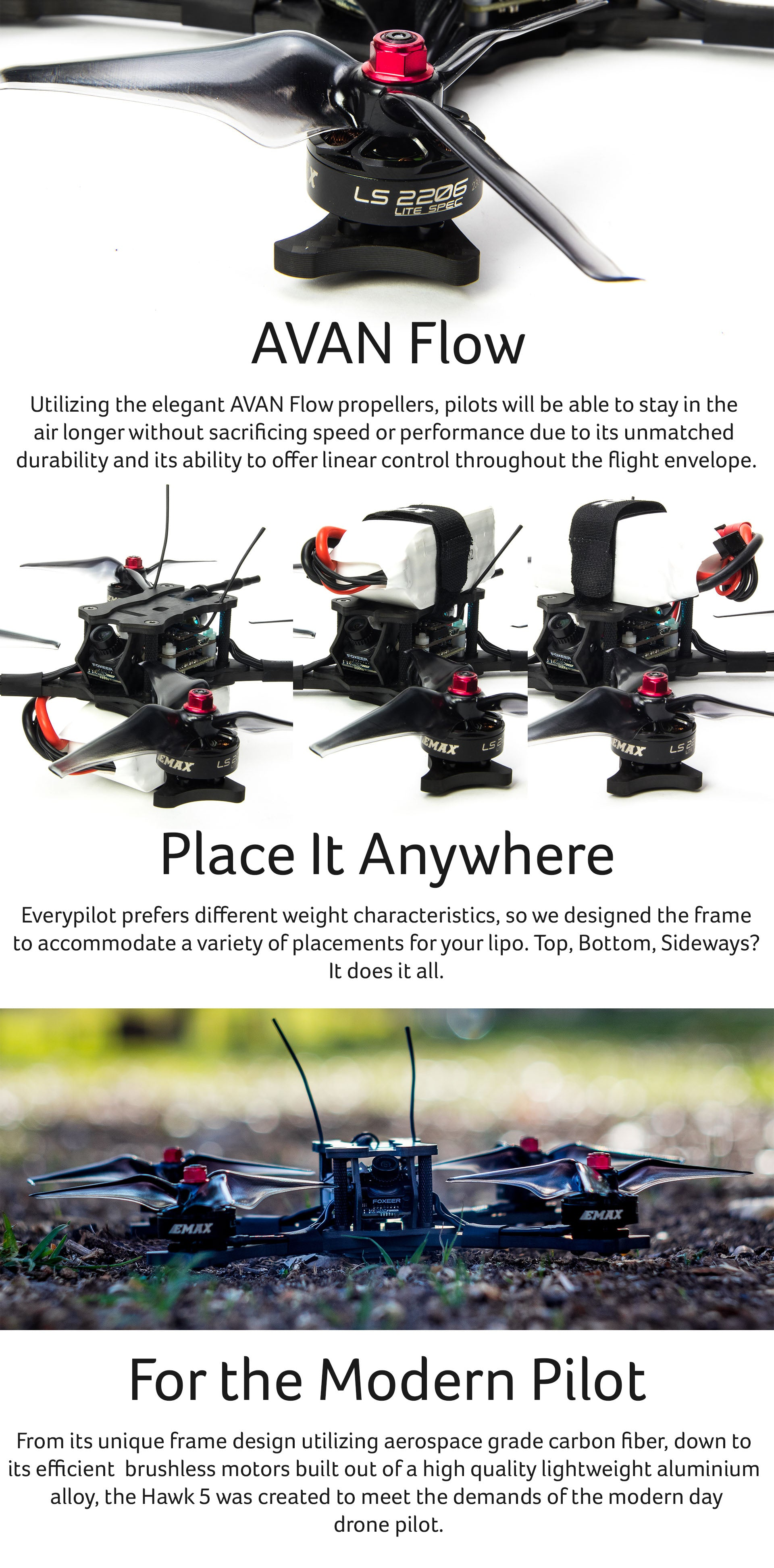 Hawk 5 Inch PNP FPV Racing Drone for Sale