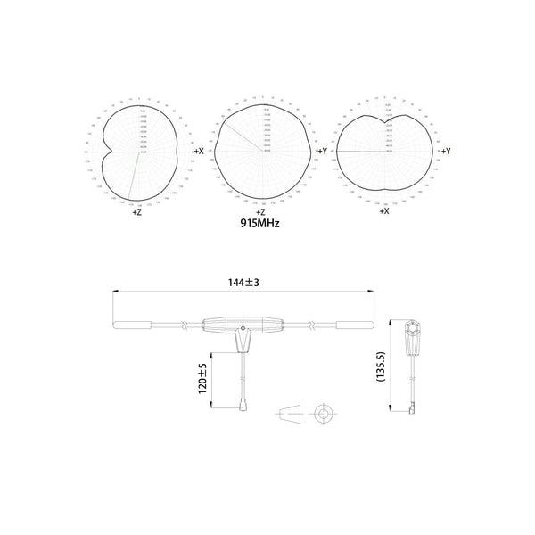 FrSky 900MHz Ipex1 Dipole T Antenna for Sale