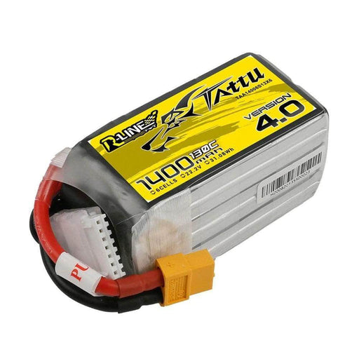 XT60 Tattu R-Line Version 4.0 22.2V 6S 1400mAh 130C LiPo Battery for Sale