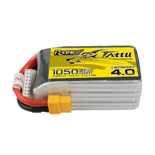 XT60 Tattu R-Line 22.2V 6S 1050mAh 130C LiPo Battery for Sale