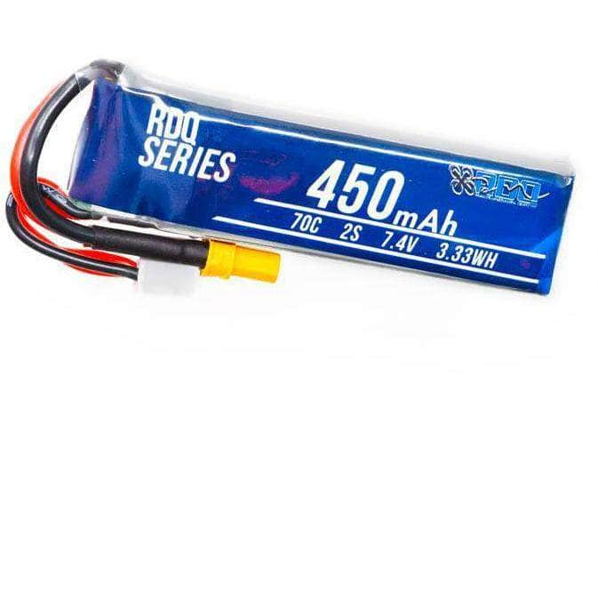 RDQ Series 7.4V 2S 450mAh 70C LiPo Micro Battery (Long Type) - XT30 - RaceDayQuads