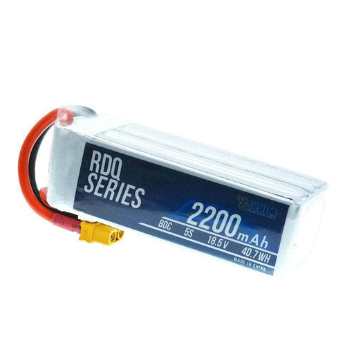 3 PACK of RDQ Series 18.5V 5S 2200mAh 80C Long Range LiPo Battery - XT60 - RaceDayQuads