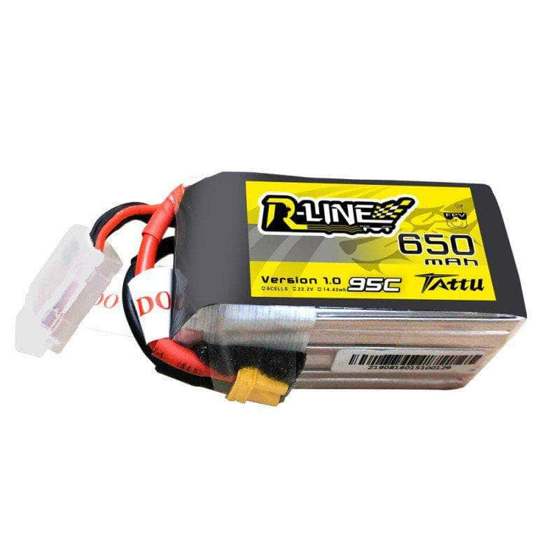 Tattu R-Line Version 1.0 22.2V 6S 650mAh LiPo Micro Battery - XT30 - RaceDayQuads