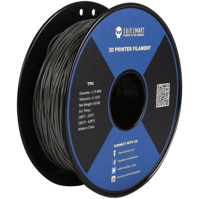 SainSmart TPU Flexible 1.75mm Filament 0.8kg Spool - Choose Your Color - RaceDayQuads
