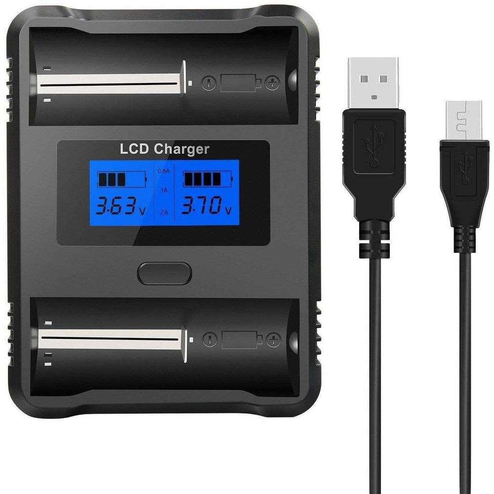 ZH222C Smart Battery Charger w/ LCD Display for 18500 & 18650 Cells - RaceDayQuads