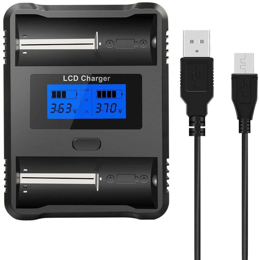 ZH222C Smart Battery Charger w/ LCD Display for 18500 & 18650 Cells