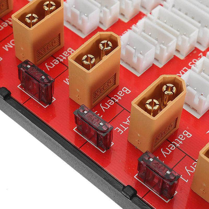 Power Genius 5 Pack 2-6S Parallel Charging Board - XT60