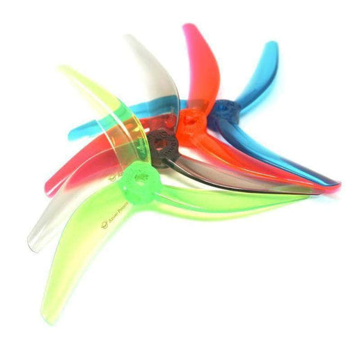 "Azure Power Johnny Freestyle 4.8x3.8x3 POPO Compatible Tri-Blade 5"" Prop Set of 4 - Choose Your Color"