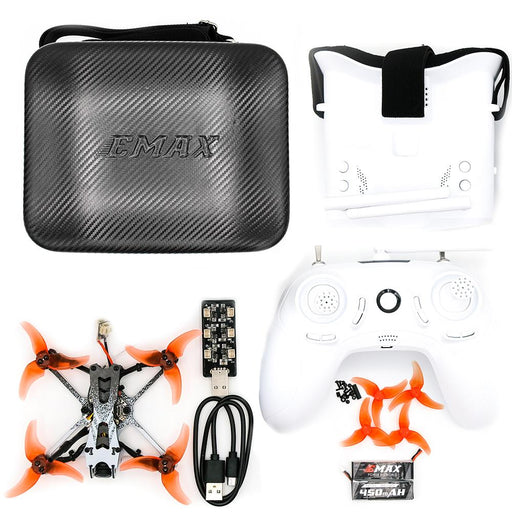 EMAX Tinyhawk II Freestyle RTF Kit w/ Googles, Radio Transmitter, Case and 75mm Indoor Racing Whoop Drone