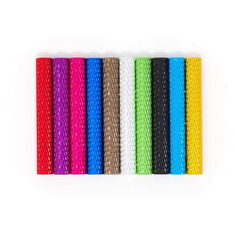 Knurled Standoff - CHOOSE YOUR COLOR AND SIZE - 5, 10, 15, 20, 25, 30, 35mm - Set of Four
