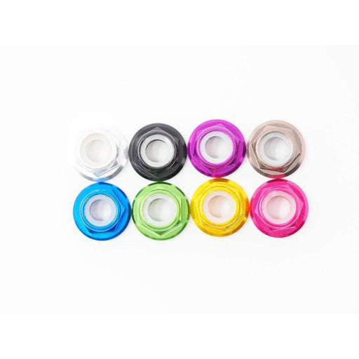 Low Profile Motor Nut with Flange - Set of 4 - CHOOSE YOUR COLOR - RaceDayQuads
