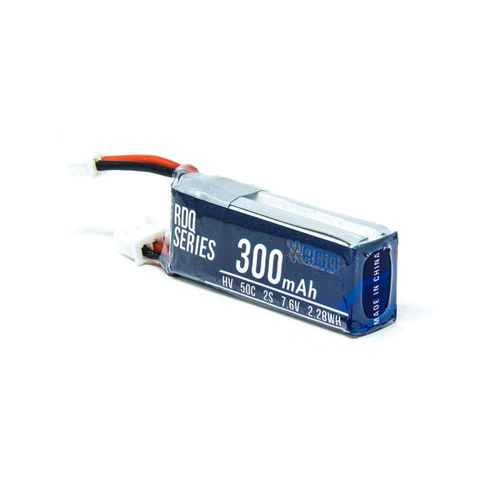 RDQ Series 7.6V 2S 300mAh 50C LiHV Micro Battery For Tinyhawk S - PH2.0 - RaceDayQuads
