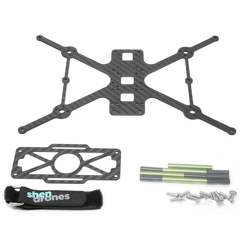 "Shen Drones Squirt V2 3"" Cinewhoop Frame - Carbon & Hardware Only (Ducts Sold Separately) - Choose DJI or Analog"