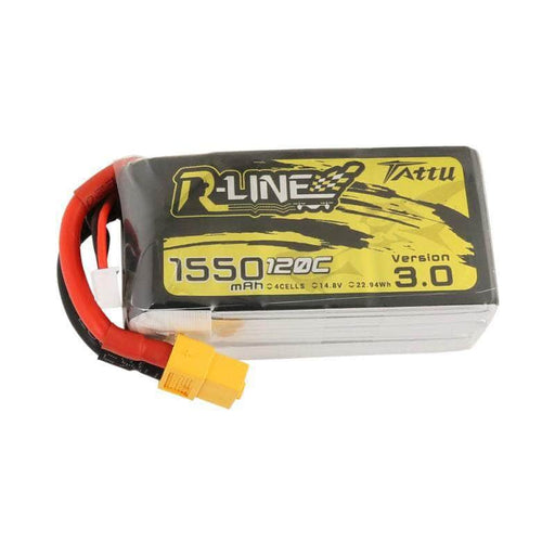 Tattu R-Line Version 3.0 14.8V 4S 1550mAh 120C LiPo Battery - XT60 - RaceDayQuads