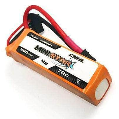 "CNHL 450mAh 4S 70C MiniStar 14.8V Li-Po FPV Battery for 2"" and 3"" Quads - XT30"