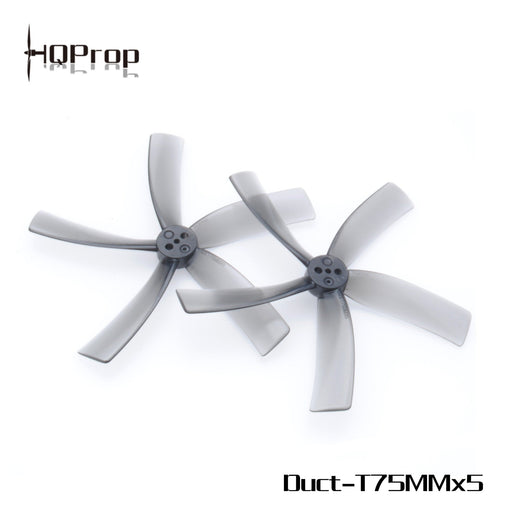 "HQ Prop Duct 75mm Cinewhoop Penta-Blade 3"" Prop 4 Pack - Grey"
