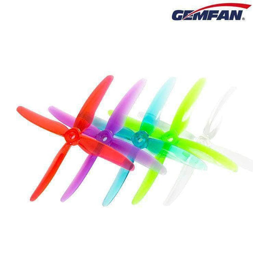 "Gemfan Hurricane X 51455 Durable Quad-Blade 5"" Prop 4 Pack - Choose Your Color - RaceDayQuads"