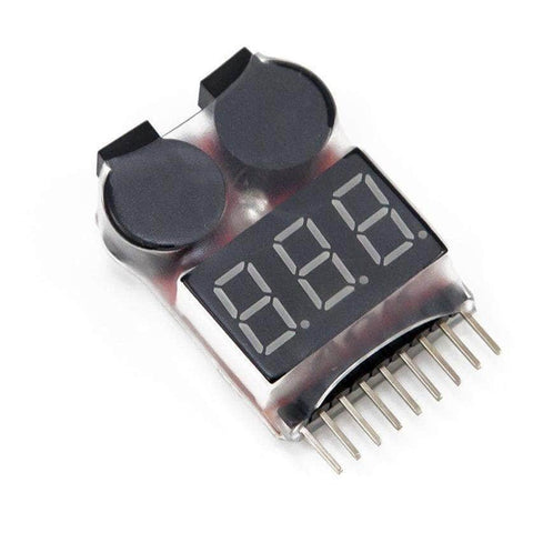 1-8S Lipo Battery Voltage Tester / Low Voltage Buzzer Alarm 691023433014 - RaceDayQuads