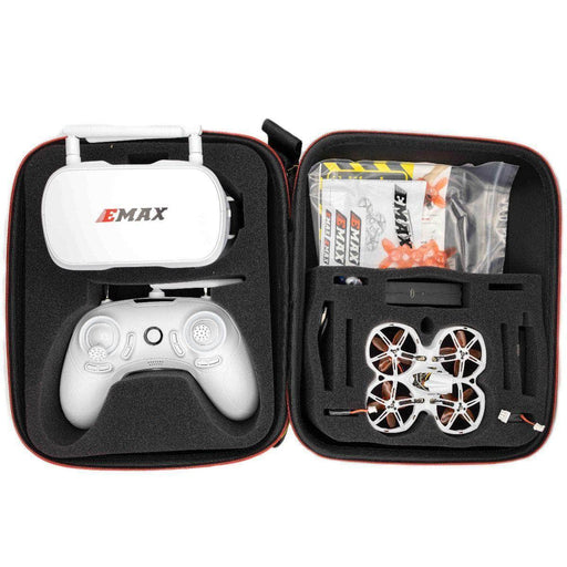 EMAX RTF TinyHawk II  Ready to Fly Kit w/ Googles, Radio Transmitter, Case and 75mm Indoor Racing Whoop Drone