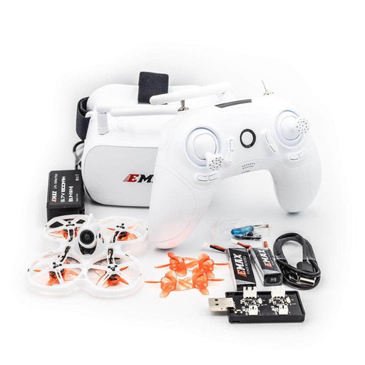 EMAX RTF TinyHawk II  Ready to Fly Kit w/ Googles, Radio Transmitter, Case and 75mm Indoor Racing Whoop Drone - RaceDayQuads