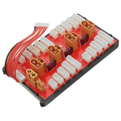 Power Genius 4 Pack 2-6S 2in1 Parallel Charging Board - XT30 & XT60 - RaceDayQuads