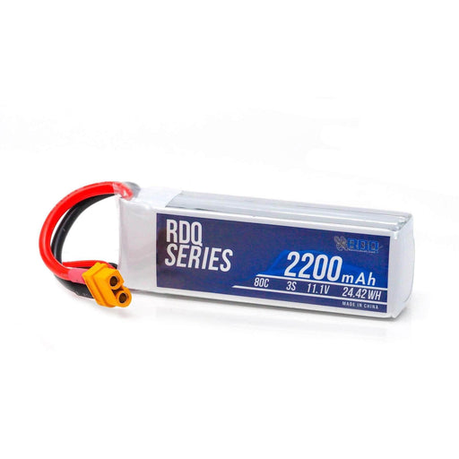 RDQ Series 11.1V 3S 2200mAh 80C FPV Wing or Drone LiPo Battery - XT60
