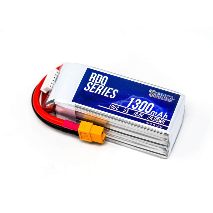 3 PACK of RDQ Series 18.5V 5S 1300mAh 100C LiPo Battery - XT60 - RaceDayQuads