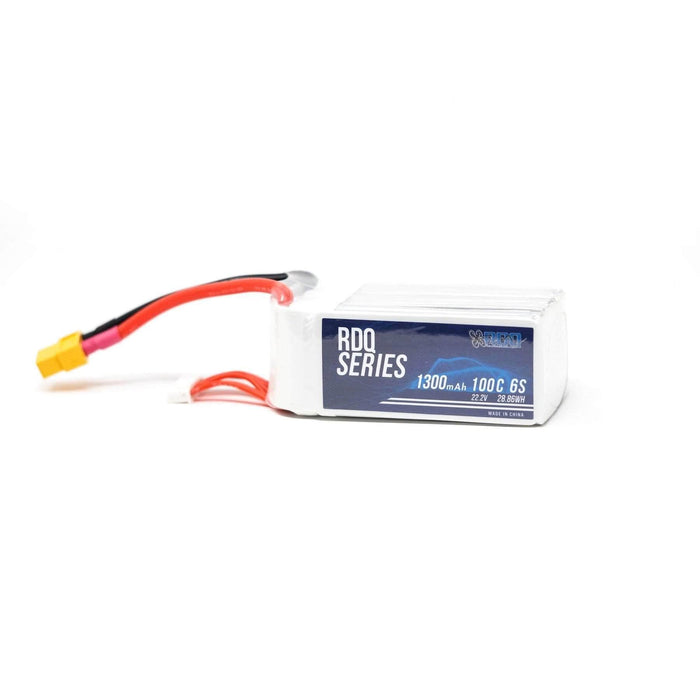 3 PACK of RDQ Series 22.2V 6S 1300mAh 100C LiPo Battery - XT60 - RaceDayQuads