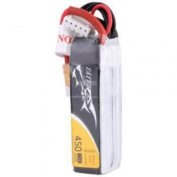 Tattu  14.8V 4S 450mAh 75C LiPo Micro Battery (Long Type) - XT30 - RaceDayQuads